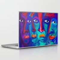faces Laptop & iPad Skins featuring faces by Pavel Karelsky