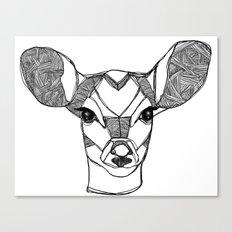 Monochrome Deer by Ashley Rose Canvas Print