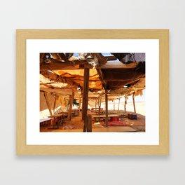 Bedouin Camp in Israel Framed Art Print