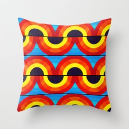 Groovy Waves Pattern Throw Pillow