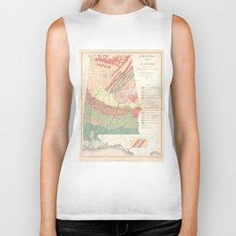 Vintage Agricultural Map of Alabama (1882) Biker Tank