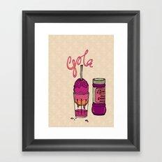 Kala Khatta Gola Framed Art Print