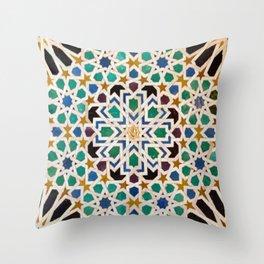 Mediterranean Mosaic Print  Throw Pillow