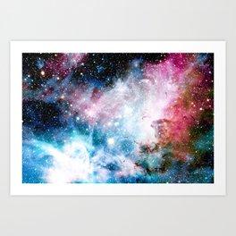 Carina Nebula : Colorful Galaxy Art Print
