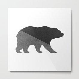 Cotton Gray Bear Metal Print