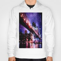 new york Hoodies featuring New York New York by Whimsy Romance & Fun