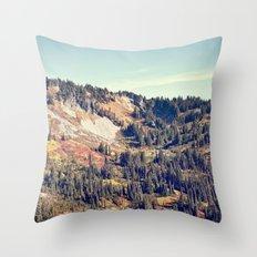 Fall Mountain Throw Pillow
