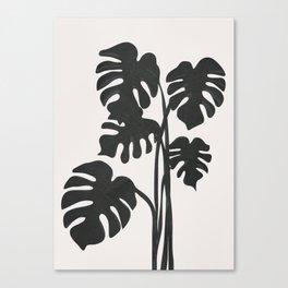 Monstera Line Canvas Print