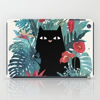 leaves iPad Cases featuring Popoki by littleclyde