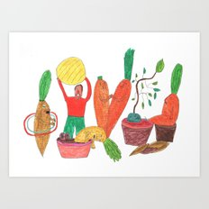 Vegetables Party. Art Print