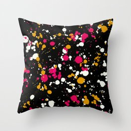 Colour Splash Abstract Throw Pillow
