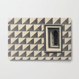 Geometric Old Wall Pattern Metal Print