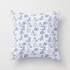 Grey Foxes Throw Pillow