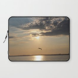 Sun Goes Down on the Bay Laptop Sleeve