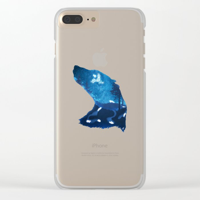Moon Badgers Clear iPhone Case