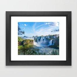 Majestic Iguazu Waterfalls Fine Art Print Framed Art Print