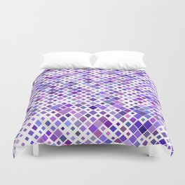 Purple Squared Duvet Cover
