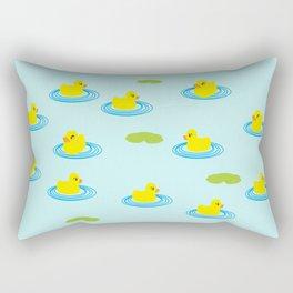 Rubber Ducks Pattern Rectangular Pillow