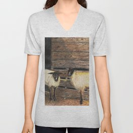 Curly and Moe Unisex V-Neck