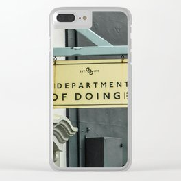 Shop Sign Clear iPhone Case