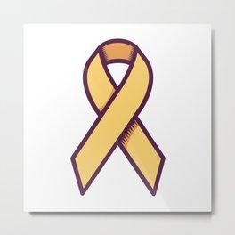 Bone Cancer Is Yellow Ribbon Metal Print