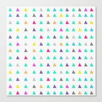 confetti Canvas Prints featuring Confetti by Leah Flores