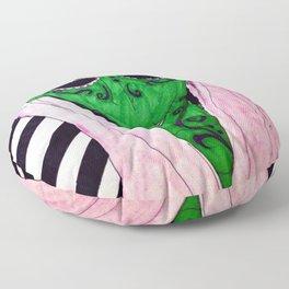 Pink Sugar Skull Floor Pillow