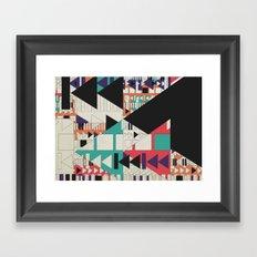 play stop pause rewind Framed Art Print