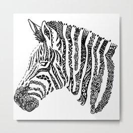 Complex Zebra Metal Print