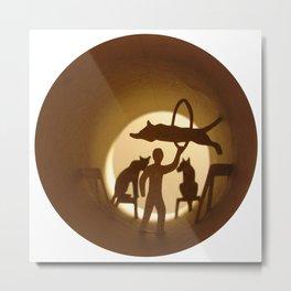 Circus. Lion tamer (Cirque. Dompteur) Metal Print