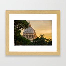 Sunset At The Vatican Framed Art Print