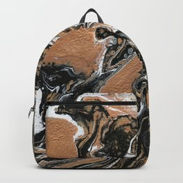 Fluid Gold - Abstract, acrylic, art painting Backpack