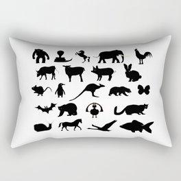 Animals Collection Silhouette Rectangular Pillow