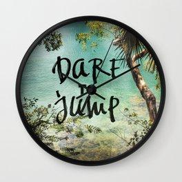 Dare to Jump Wall Clock