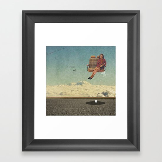 Up In The Air | Collage Framed Art Print