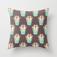 kobe Throw Pillows featuring Kobe Avonia by Jasmine Smith