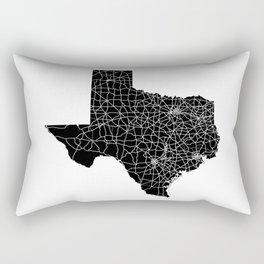 Texas Black Map Rectangular Pillow