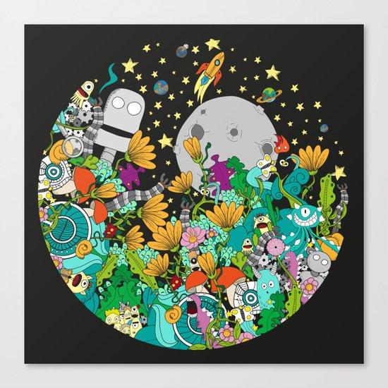 Fantasy kids world Canvas Print