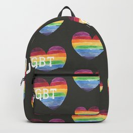 Watercolor seamless Pride lgbt color heart  Backpack
