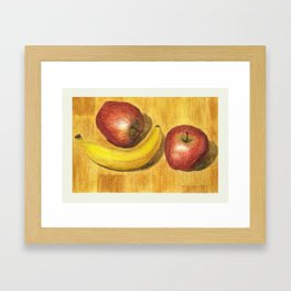 Two Apples, One Banana by Winifred Framed Art Print