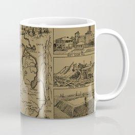 Vintage Map of Michigan (1912) - Tan Coffee Mug