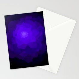 Glowing Blue Rose Emerging from  Darkness Stationery Cards