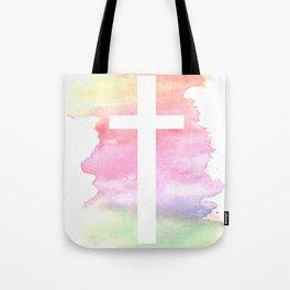 Cross- Landscape / Sunset Tote Bag