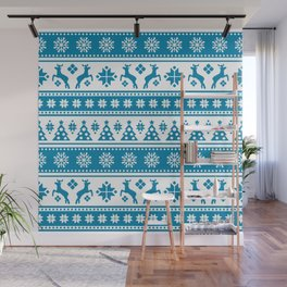 Christmas Holiday Nordic Pattern Cozy Wall Mural