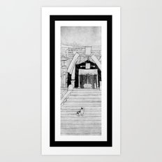 Shrine Cat Art Print