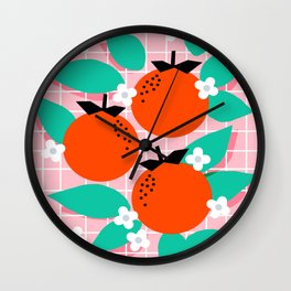 Bodacious - modern abstract minimal 1980s throwback memphis design trendy palm springs art Wall Clock