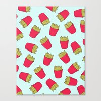 fries Canvas Prints featuring Fries by weheartstore