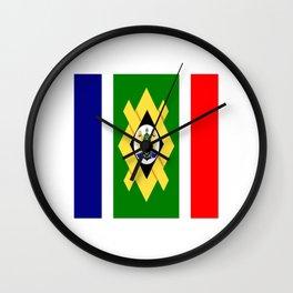 flag of Johannesburg Wall Clock