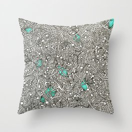 Diamonds in the Roughage Throw Pillow