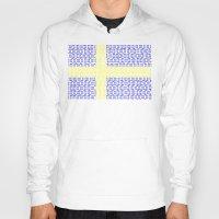 sweden Hoodies featuring digital Flag (Sweden) by seb mcnulty